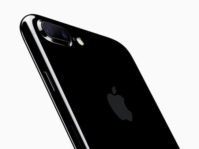 iPhone 7 en color negro con doble cámara