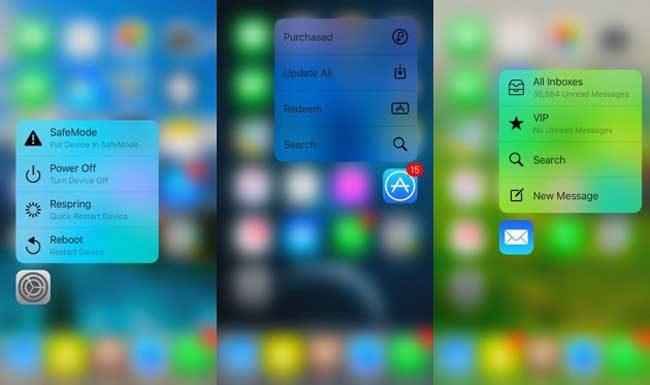 3D Touch cambiar color