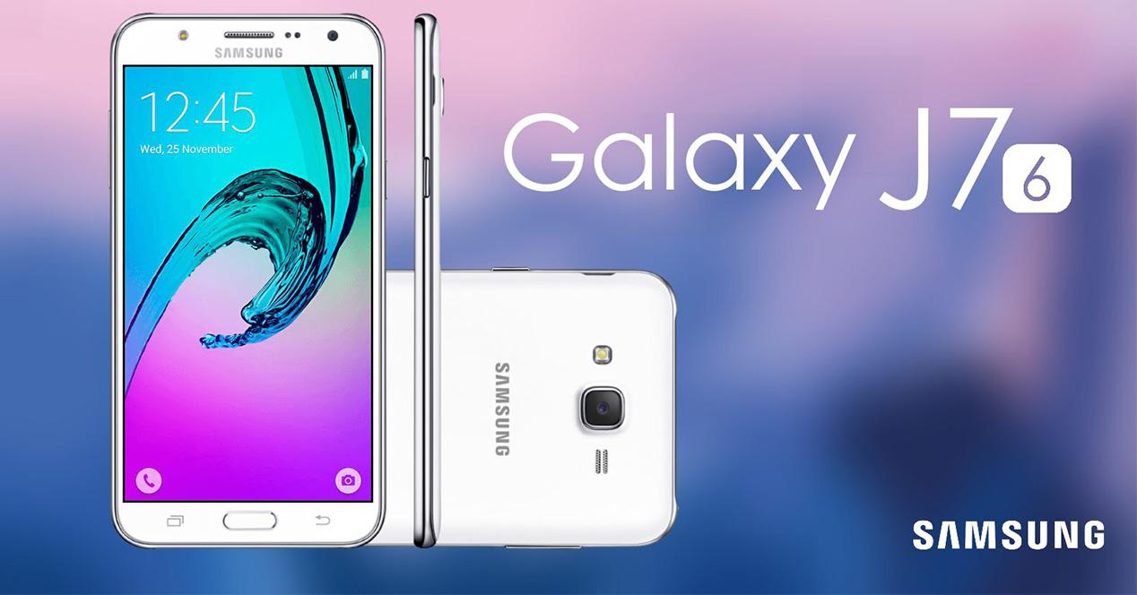 Samsung Galaxy J7 (2016) con carcasa de color blanco