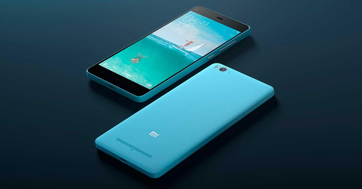 Xiaomi Mi4c de color azul