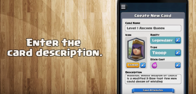 card creator for CR