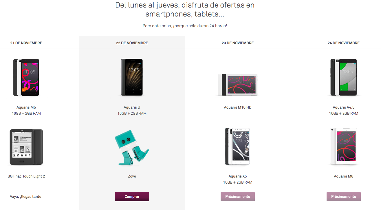 ofertas Black Friday bq