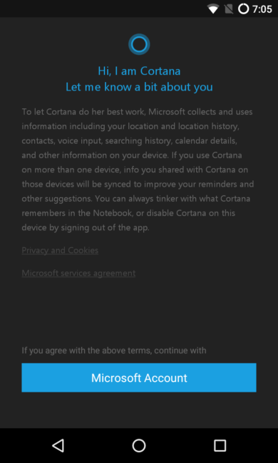 Conectar Cortana Android