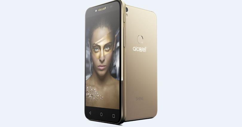 alcatel shine lite dorado