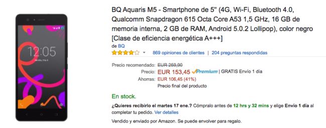 bq aquaris m5 amazon