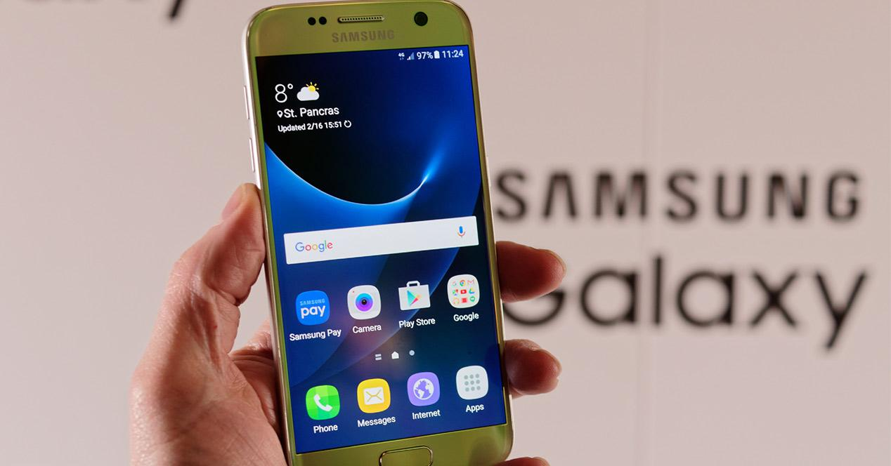 Samsung Galaxy S7 de color oro