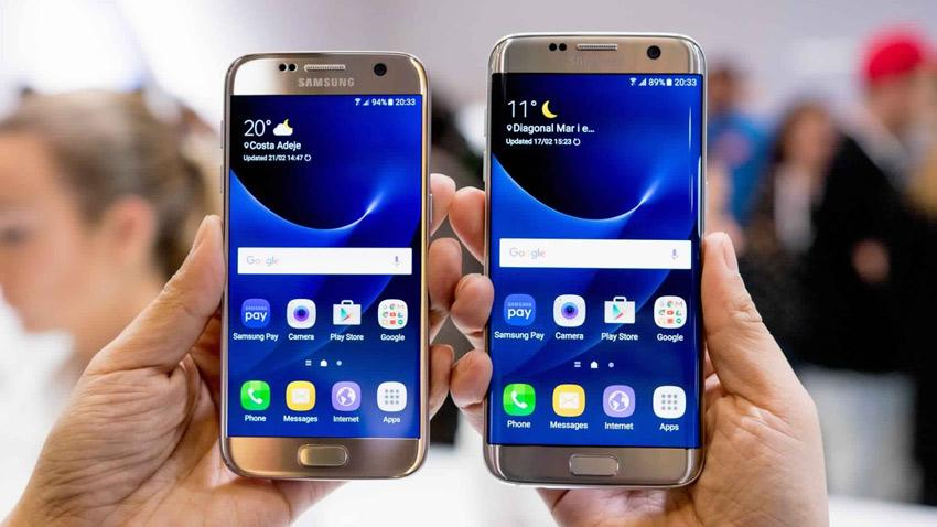 Samsung Galaxy S7 frente a Samsung Galaxy S7 Edge