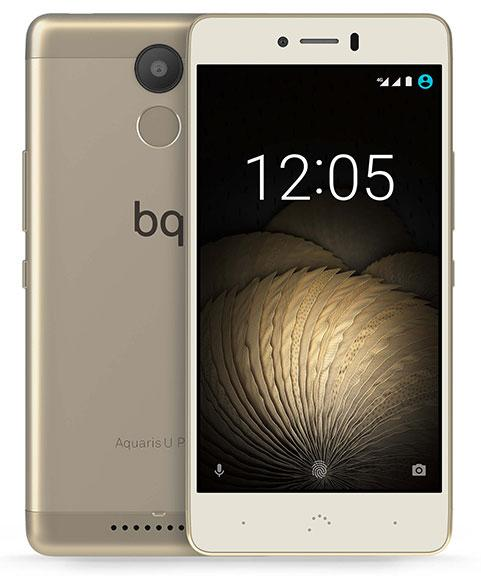 BQ Aquaris U plus dorado