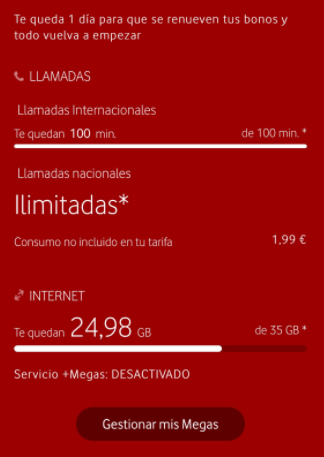 tarifa red xl vodafone