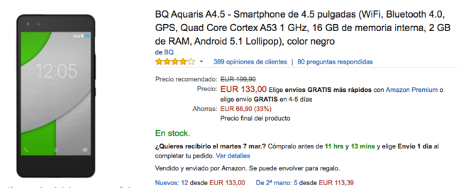 bq aquaris a4.5 amazon