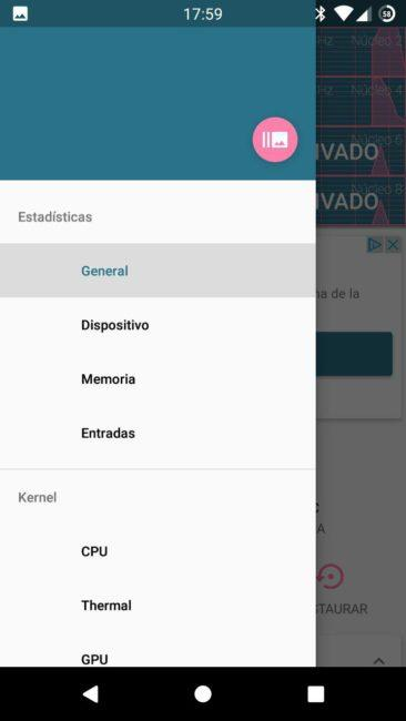 Kernel Auditor Android CPU menu
