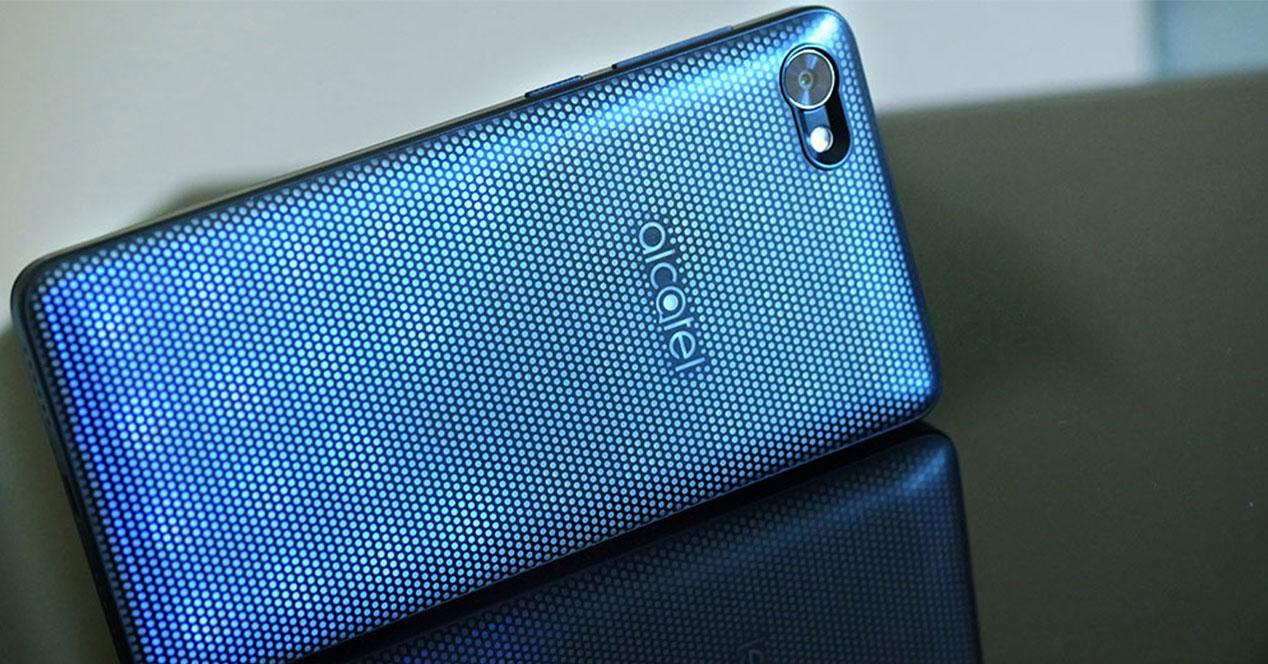 Alcatel A5 LED carcasa azul
