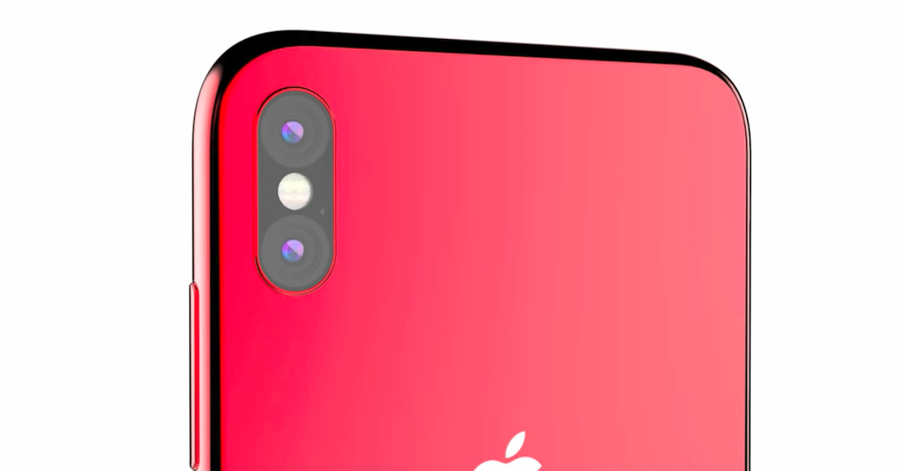 concepto iphone 8 rojo