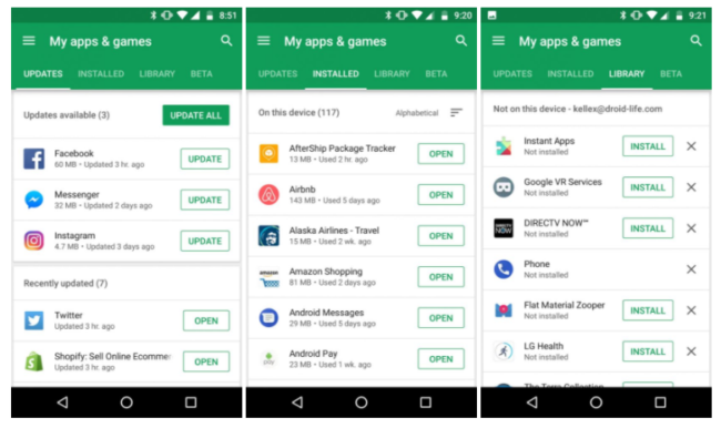play store mis apps