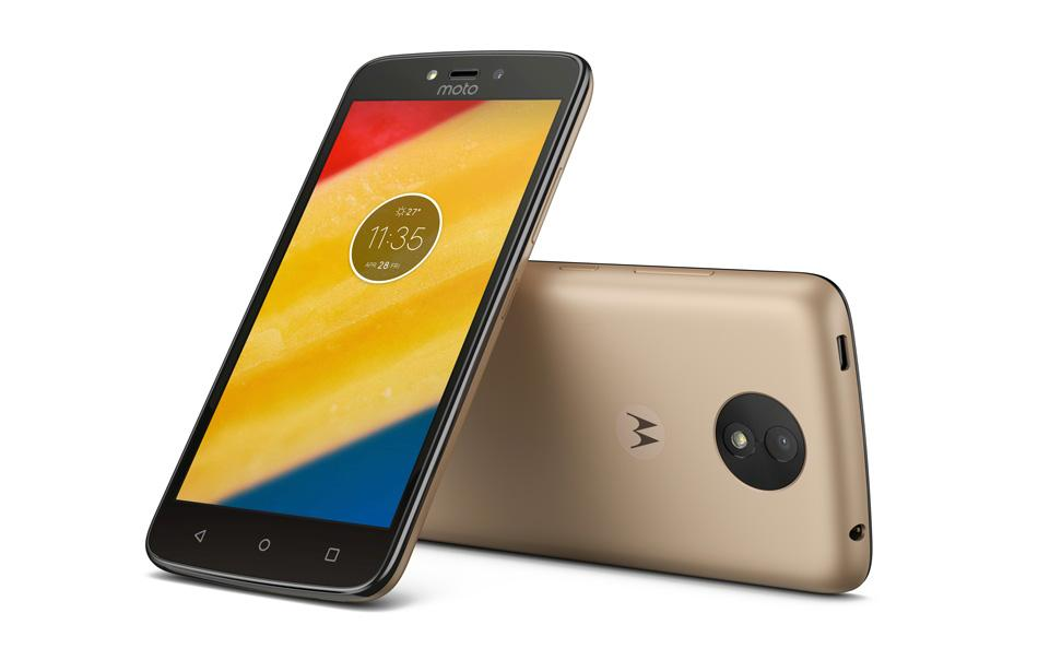 Diseño del Moto C Plus en color oro