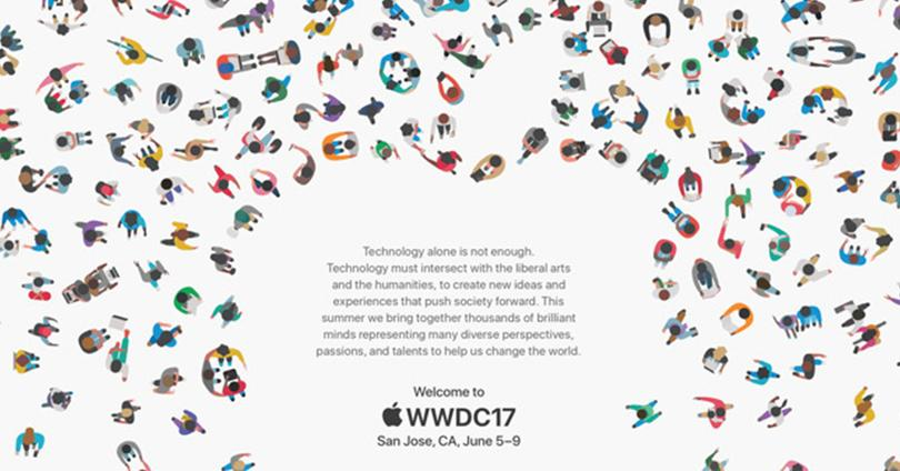 Invitación al evento WWDC 2017 de Apple