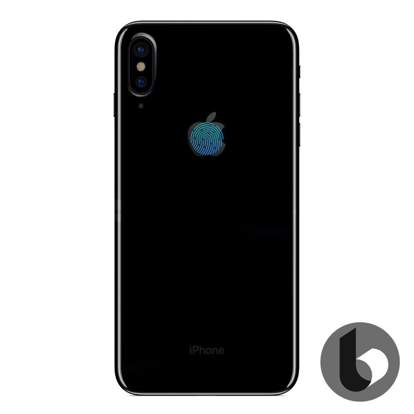 Sensor Touch ID del iPhone 8 integrado en el logo de la manzana