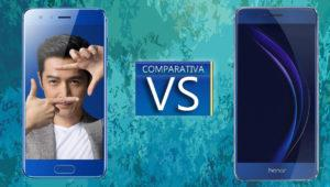 Comparativa entre el Honor 9 vs Honor 8