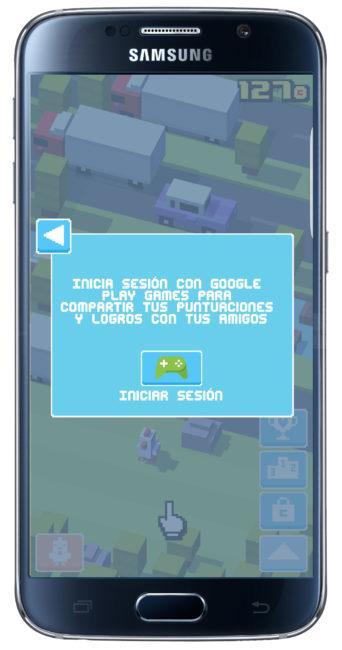 Conectar Crossy Road a Google Games