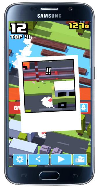 Foto atropello Crossy Road