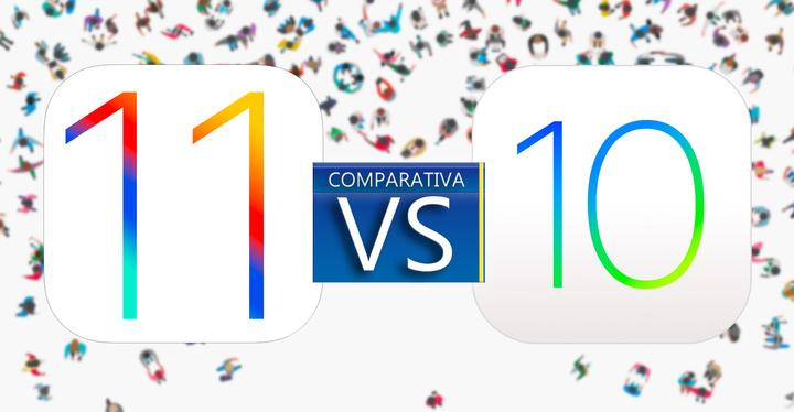 ios 11 vs ios 10 comparativa