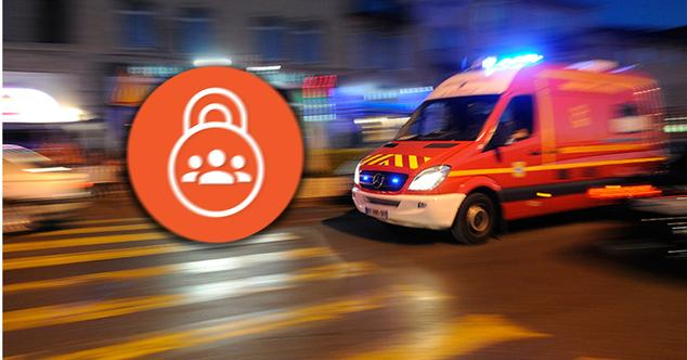 Ambulancia atendiendo una emergencia