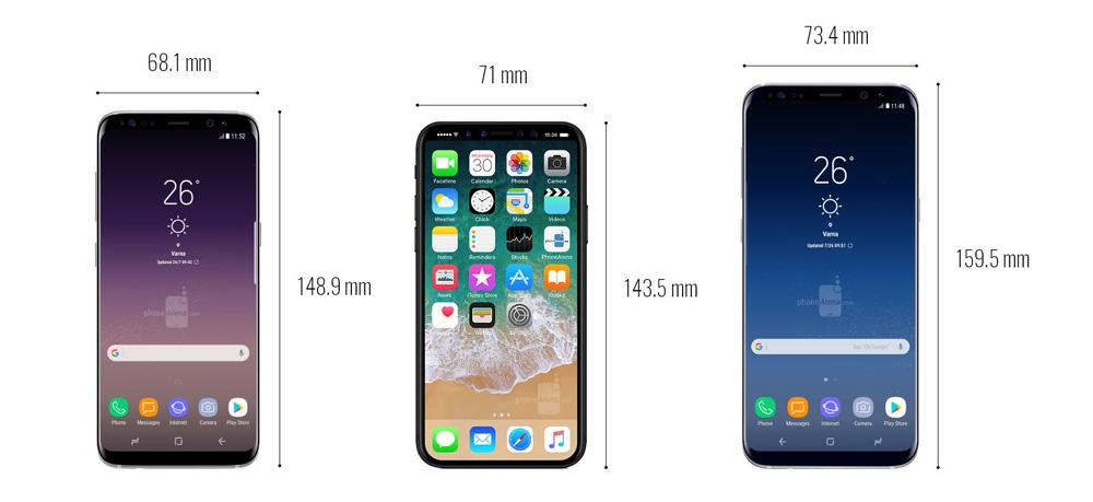 note8 vs iphone 8 plus tamaño