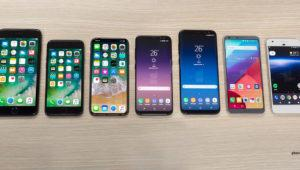 El tamaño del iPhone 8 comparado con los Galaxy S8, iPhone 7, LG G6 y Google Pixel