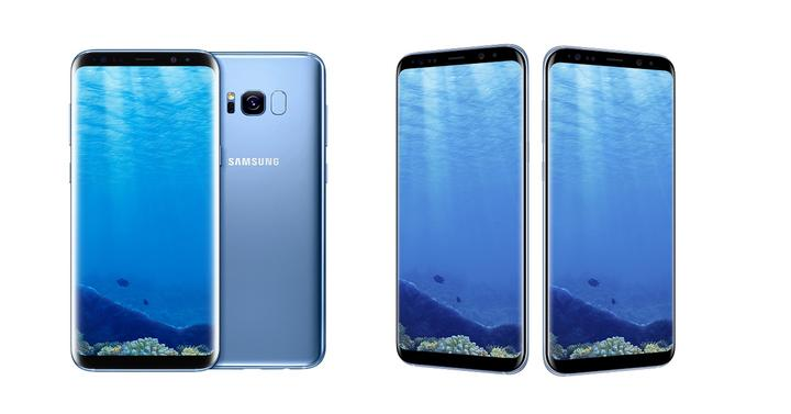 Samsung Galaxy S8 en color azul coral