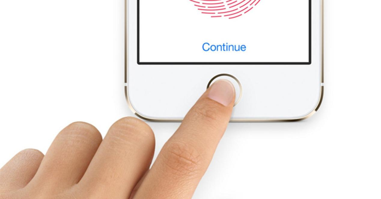 Sensor de huellas Touch ID en un iPhone