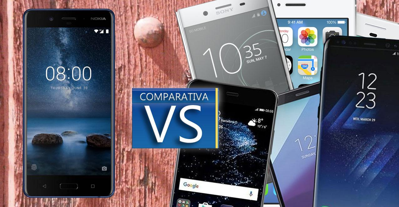 nokia 8 vs topes de gama