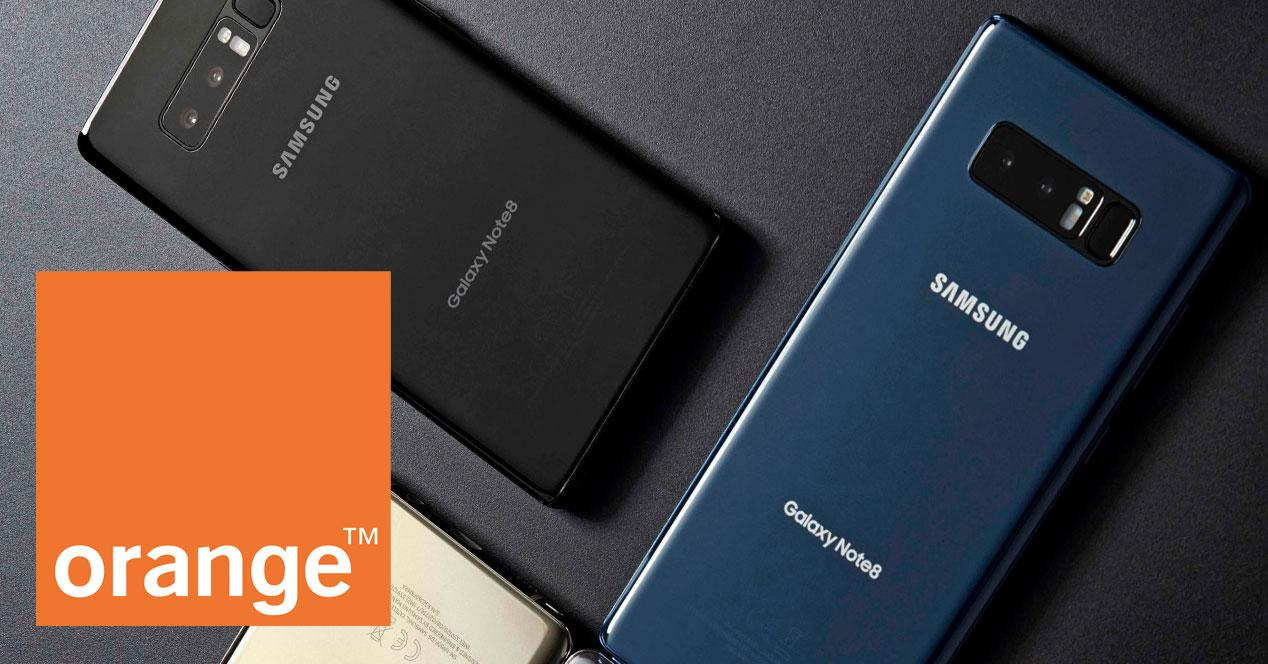 samsung galaxy note 8 orange