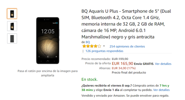 oferta del Moto G5 Plus y BQ Aquaris U Plus