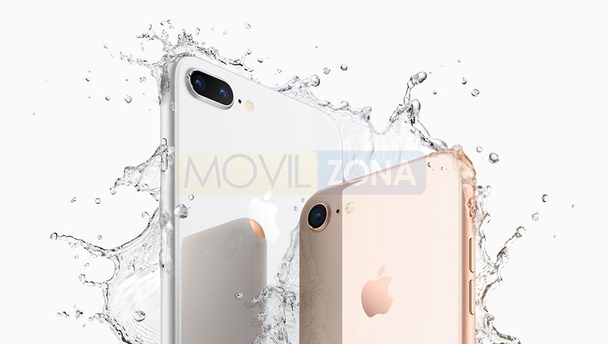 iPhone 8 Plus con agua o resistente al agua