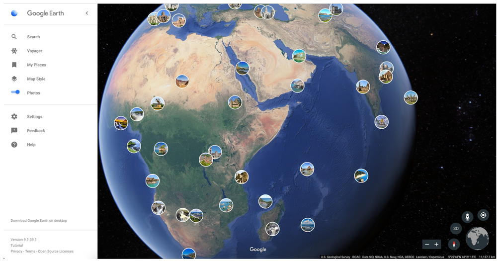 Google Earth para Android e iOS