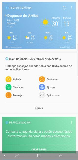Bixby en Samsung Galaxy Note 8
