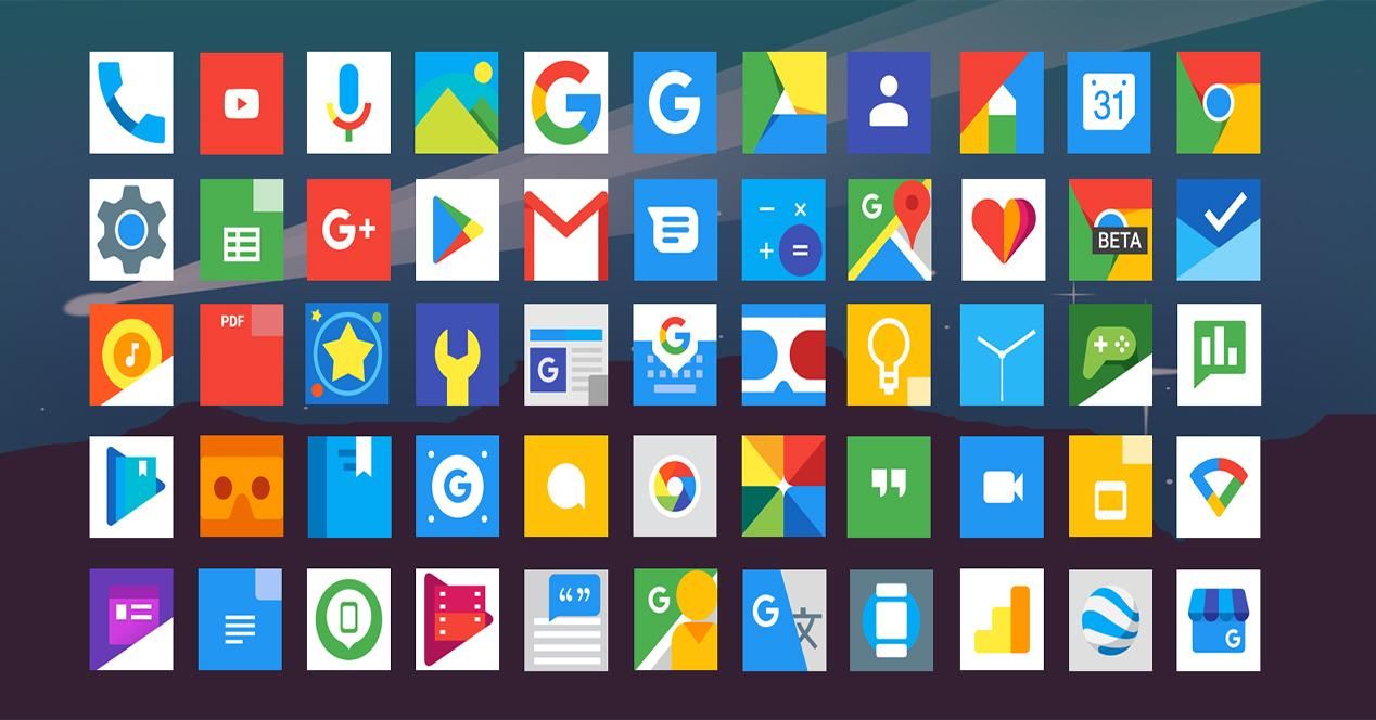 pacl de iconos Android gratuitos Nougat Icon
