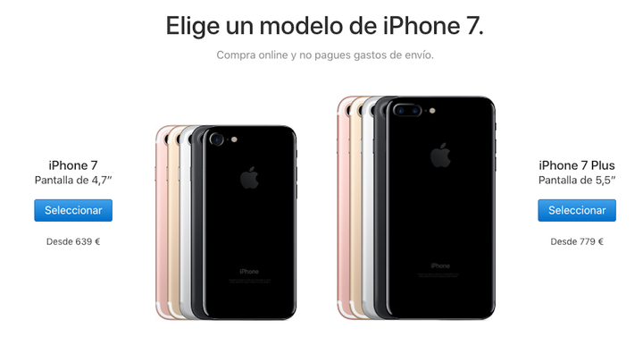iphone 7 costo apple