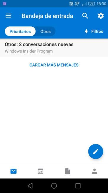 Correos Outlook Android
