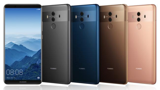 Frontal y parte trasera del Huawei Mate 10