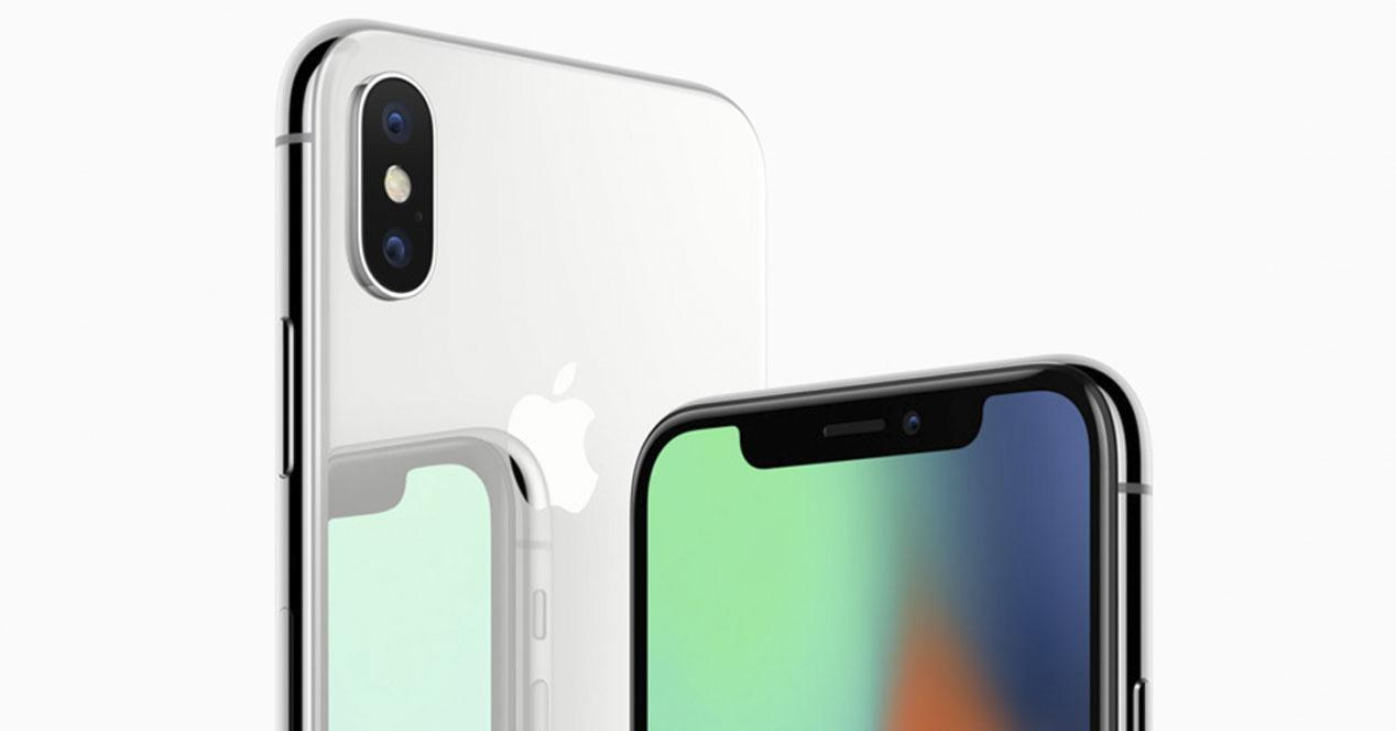 Frontal y cámara del iPhone X
