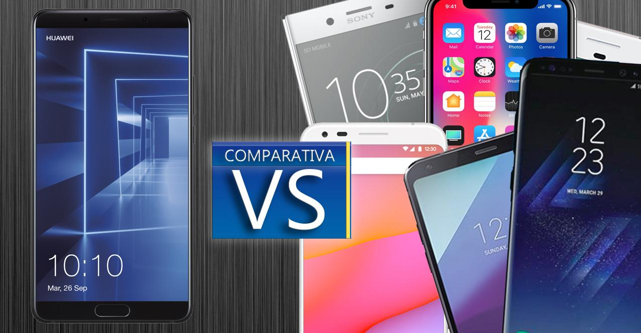 comparativa mate 10 vs topes de gama