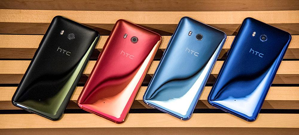 HTC U11 en distintos colores