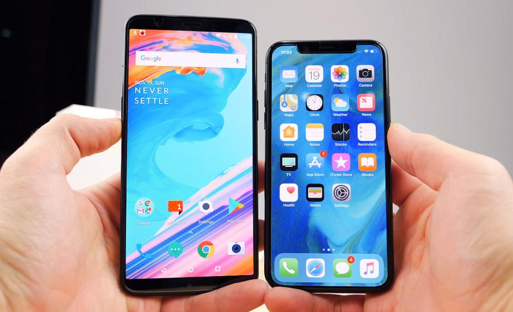 Comparativa OnePlus 5T VS iPhone X