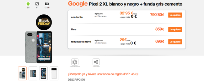 Pixel 2 XL en Orange