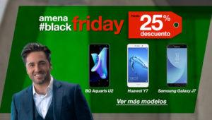 Black Friday 2017 de Amena: ofertas del Samsung Galaxy J7 y BQ Aquaris X Pro