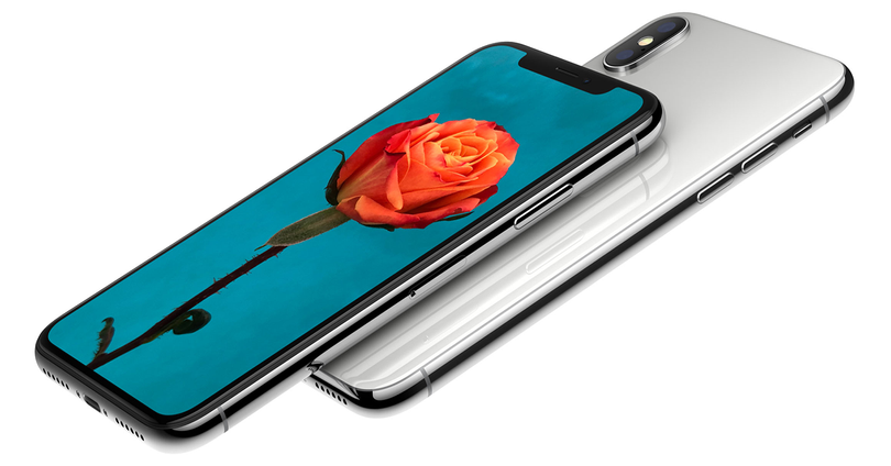 Frontal y trasera del iPhone X