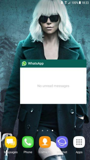 Widget de WhatsApp en Android