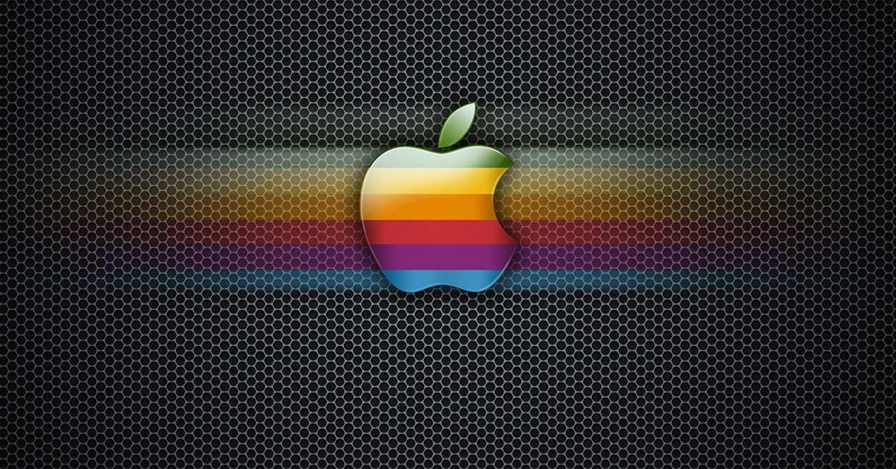 Logotipo de Apple en colorines