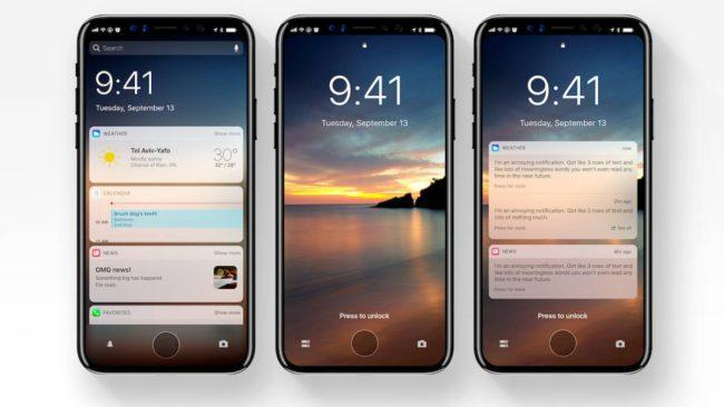 iPhone X con iOS 12